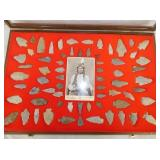 COLLECTION NC ARROW HEADS W/ VASE