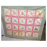 EARLY HANDMADE BUTTERFLY QUILT