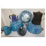 GROUP PICTURE VARIOUS ENAMELWARE