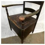 VIEW 3 W/ ORIG. TOIL PAINTED CHAIR