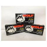 3 BOXES 60RD WOLF .223