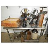 EARLY FANS, STONEWARE, ETC
