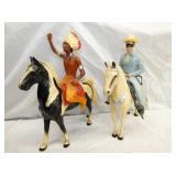 TONTO, LONG RANGER W/ HORSES