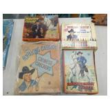 HOPALONG CASSIDY PUZZLES,STENCIL,GAME