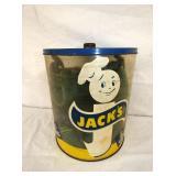 VIEW 2 CLOSEUP JACKS COOKIE JAR