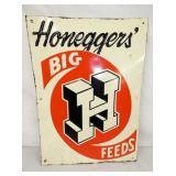 12X17 HONEGGERS BIG FEEDS SIGN