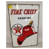 12X18 1962 PORC. FIRE CHIEF PUMP PLATE