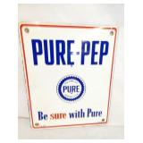 10X12 PORC. PURE PEP PUMP PLATE