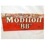 18X18 PORC. MOBILOIL BB SIGN