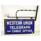 33X19 PORC. WESTERN UNION TELEGRAPH SIGN
