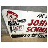 VIEW 3 36X24 JOHN O SCHMIDT SIGN W/ MAN