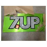 36X17 EMB. OLD STOCK 7UP SIGN