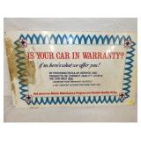 10X18 CAR WARRANITY SIGN