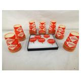 OLD STOCK COKE CUPS, TOPPERS