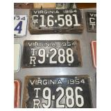 VA 1954 LIC. TAGS