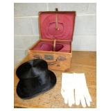 ORIG. HAT W/ BOX AND GLOVES