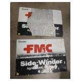 (2) 36X24 EMB. FMC DEALER SIGNS