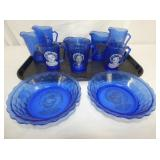 SHIRLEY TEMPLE BOWLS,PITCHERS,CUPS