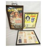 SHIRLEY TEMPLE FRAMED ADV. ITEMS