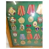 VIEW 2 LEFTSIDE MILITARY MEDALS