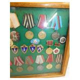 VIEW 3 RIGHTSIDE RUSSIAN MEDALS