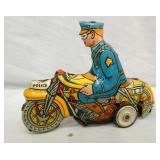 MARX WINDUP POLICE MOTORCYCLE