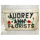 WOODEN AUDRY ANN FLORIEST SIGN