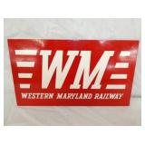 13X8 WESTERN RR WOODEN SIGN