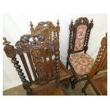 VIEW 3 OAK CARVED CHAIRS