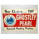 18X12 NOS 1959 GHOSTLEY POULTRY SIGN