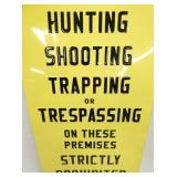 VIEW 2 OR TRESPASSIGN SIGN