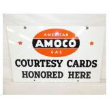 24X15 PORC. AMOCO CARDS SIGN