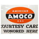 VIEW 2 CLOSEUP AMOCO GAS CARD SIGN