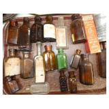 COLLECTION OF EARLY POISON BOTTLES