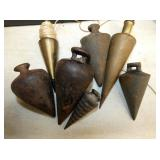 COLLECTION OF EARLY PLUMB BOBS