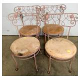 (4) MATCHING WROUGHT CHAIRS