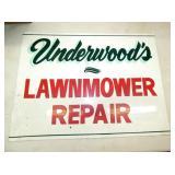 24X18 UNDERWOODS LAWNMOWER REPAIR SIGN