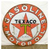 EARLY 42IN. TEXACO PORC. SIGN