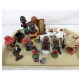COLLECTION OF BLACK COLLECTIBLE FIGURES