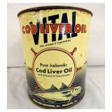 1G. COD LIVER OIL CAN