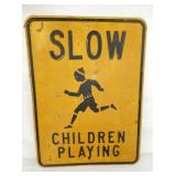 EARLY 18X24 EMB CHILDREN PLAYING SIGN