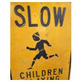VIEW 2 EMB. CHILDREN PLAYING SIGN