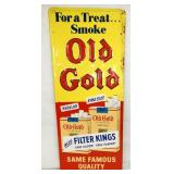 14X33 EMB. OLD GOLD SIGN