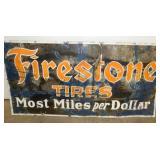 60X30 PORC. FIRESTONE TIRES SIGN