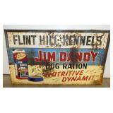 58X34 JIM DANDY DOG RATION SIGN