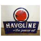 46 1/2X35 1/2 PORC. HAVOLINE OIL SIGN