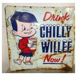 36X34 1/2 DRINK CHILLY WILLEE SIGN