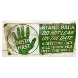20X9 PORC. SAFETY FIRST SIGN