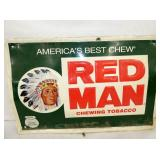 18X12 EMB. RED MAN SIGN
