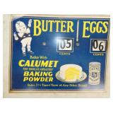 14X11 BUTTER EGGS PRICE SIGN CB